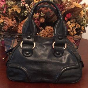 🦊 BCBG Girls black leather satchel.